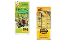 Harvest Festival - Rack Card Template