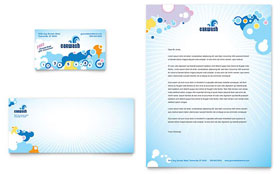 Car Wash - Business Card & Letterhead Template Design Sample