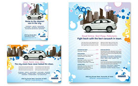 Car Wash - Flyer & Ad Template Design Sample