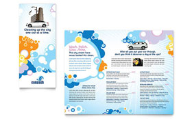Car Wash - Microsoft Word Tri Fold Brochure Template