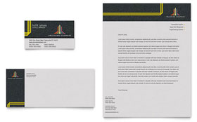Trucking & Transport - Business Card & Letterhead Template Design Sample