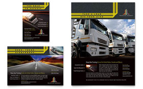 Trucking & Transport - Leaflet Sample Template