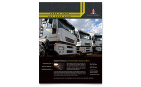 Trucking & Transport - Flyer Template Design Sample