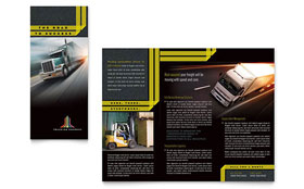 Trucking & Transport - Tri Fold Brochure Template Design Sample