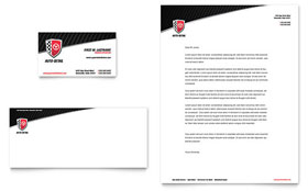 Auto Detailing - Business Card & Letterhead Template Design Sample