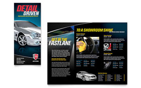 Auto Detailing - Graphic Design Tri Fold Brochure Template