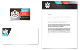 Auto Mechanic - Business Card & Letterhead Template