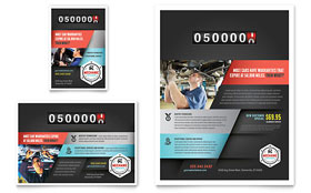 Auto Mechanic - Flyer Template Design Sample