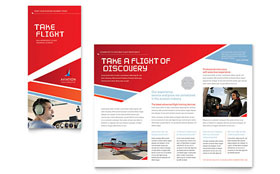 Aviation Flight Instructor - Graphic Design Brochure Template