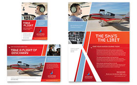 Aviation Flight Instructor - Print Ad Template