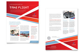 Aviation Flight Instructor - Sales Sheet Sample Template