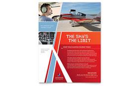 Aviation Flight Instructor - Flyer Template