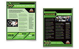 Oil Change - Sales Sheet Sample Template
