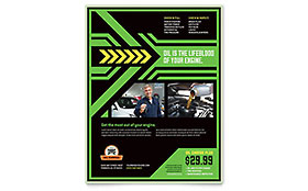 Oil Change - Flyer Template