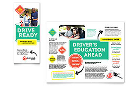 Driving School - Brochure Sample Template