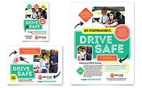Driving School - Print Ad Sample Template