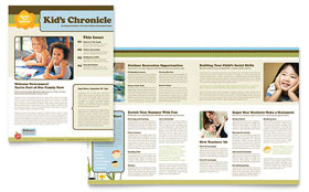Child Development School - Newsletter Template Design Sample