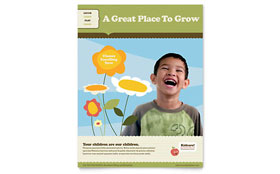 Child Development School - Flyer Template Design Sample