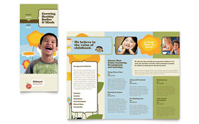 Child Development School - Tri Fold Brochure Template Design Sample