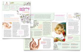 Babysitting & Daycare - Newsletter Template Design Sample