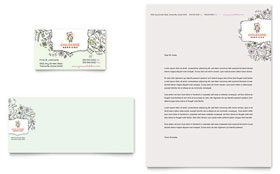 Babysitting & Daycare - Business Card & Letterhead Template Design Sample