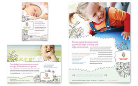 Babysitting & Daycare - Flyer & Ad Template Design Sample