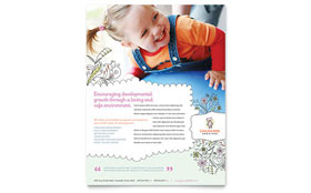 Babysitting & Daycare - Flyer Template Design Sample