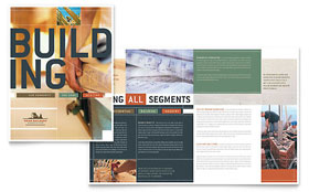 Home Builders & Construction - Adobe InDesign Brochure Template