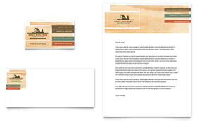 Home Builders & Construction - Business Card & Letterhead Template Design Sample