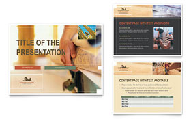 Home Builders & Construction - PowerPoint Presentation Template Design Sample