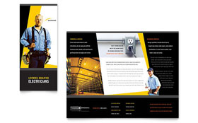 Electrician - Microsoft Word Brochure Template