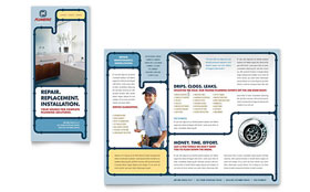 Plumbing Services - Apple iWork Pages Brochure Template