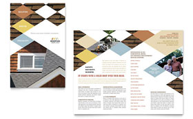 Roofing Contractor - Microsoft Word Brochure Template