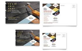 Roofing Contractor - Postcard Template Design Sample