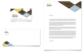 Roofing Contractor - Business Card & Letterhead Template