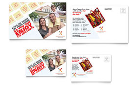Handyman Services - Postcard Template Design Sample