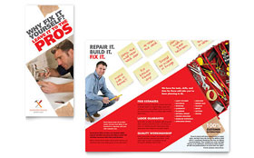 Handyman Services - QuarkXPress Tri Fold Brochure Template