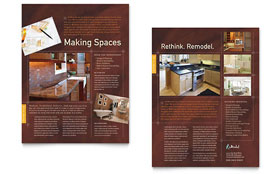 Home Remodeling - Sales Sheet Sample Template