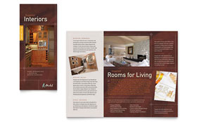 Home Remodeling - Desktop Publishing Tri Fold Brochure Template