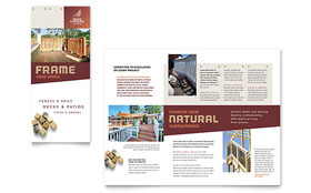 Decks & Fencing - Tri Fold Brochure Template Design Sample