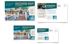 Decks & Fencing - Postcard Template Design Sample