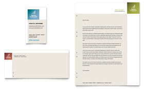 Decks & Fencing - Business Card & Letterhead Template Design Sample