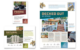 Decks & Fencing - Print Ad Template Design Sample