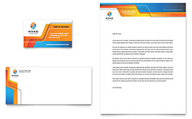 HVAC - Business Card Sample Template