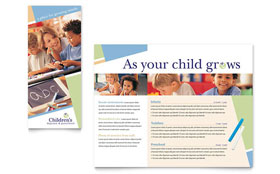 Child Care & Preschool - Tri Fold Brochure Template
