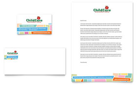 Preschool Kids & Day Care - Business Card & Letterhead Template Design Sample