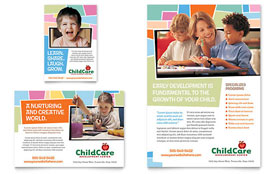 Preschool Kids & Day Care - Flyer & Ad Template Design Sample