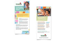 Preschool Kids & Day Care - Rack Card Template