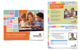 Preschool Kids & Day Care - Microsoft PowerPoint Template