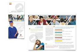 College & University - Tri Fold Brochure Sample Template